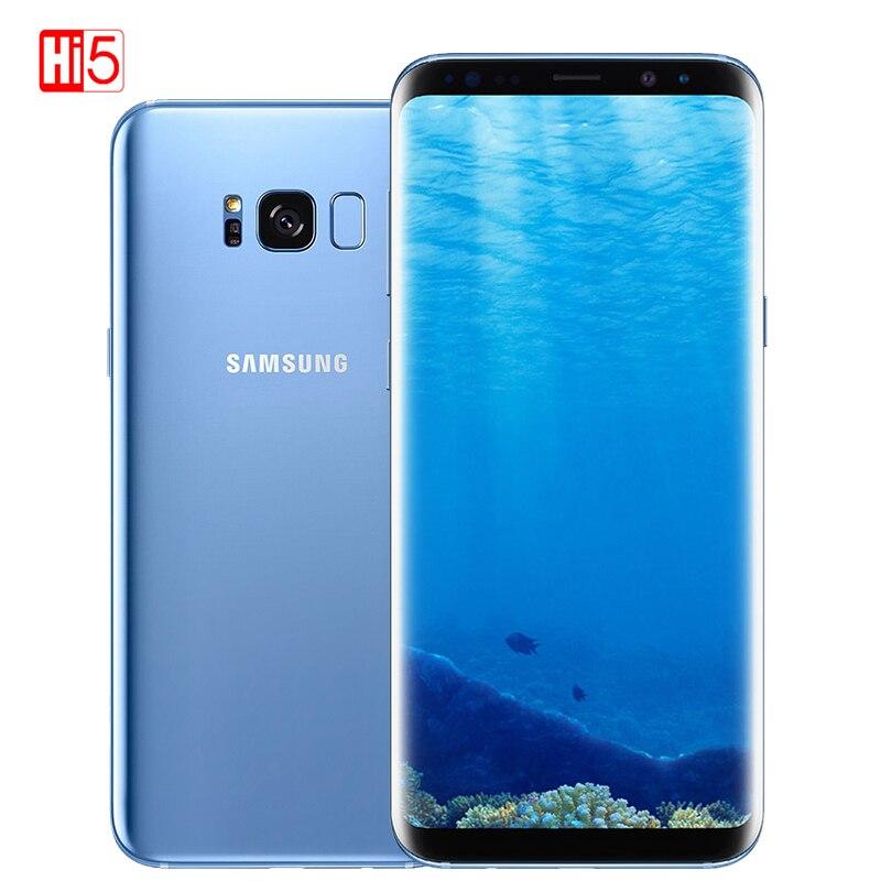 "Débloqué d'origine Samsung Galaxy S8 G950U snapdragon/G950F Exynos 4GB RAM 64GB ROM 6.2 ""Octa Core Android empreinte digitale 12MP téléphone"