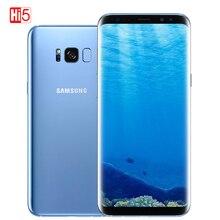 Разблокированный оригинальный телефон Samsung Galaxy S8 G950U, snapdragon/G950F Exynos 4 ГБ ОЗУ 64 Гб ПЗУ, экран 6,2 дюйма, Восьмиядерный процессор, на базе Android, сканер отпечатков пальцев, 12 МП