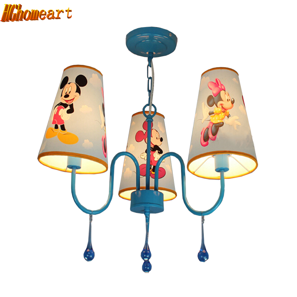 Hghomeart Kids Room Pink Chandelier 110V/220V E14 Crystal Chandeliers Fixtures Home Lighting Lamp Cartoon Led Chandeliers hghomeart creative cartoon chandeliers led crystal chandelier kids room light wrought iron lamp lustre suspension