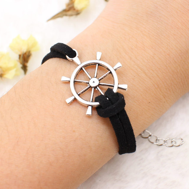 2018 NEW Multilayer Handcuffs simple Leather charm Bracelets Multilayer Handcuffs simple Leather charm Bracelets OWL cross Heart Jewelry For men Women 1