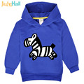 Jiuhehall Cartoon Zebra Pattern Baby Boy Girl Sweatshirts Spring Autumn Kids Hoodie Polyester 3-7 Yrs Children Tops FCM051