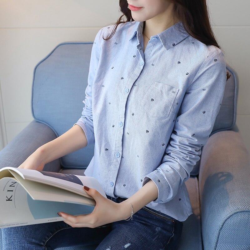 Tops Otoño blanco 51i Blanco Las Azul Camisa Blusas Manga Blusa Mujeres Mujer Cuello Azul Larga Primavera Casual Invierno De Nueva 2019 Cool HzwqwT1