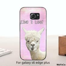 MaiYaCa High Quality Classic Phone Accessories COMO TE LAMA cute animals For Galaxy s6 Edge plus case(China)