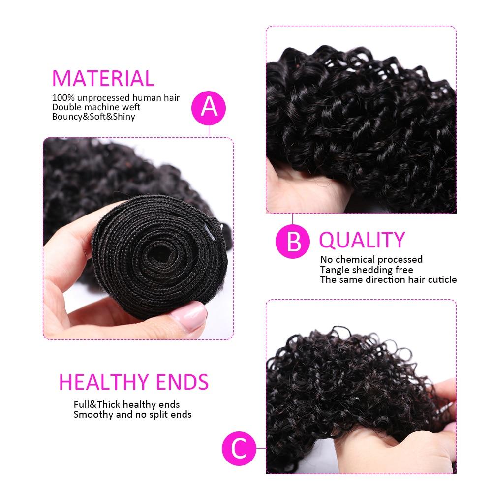 HTB1DJrnKf5TBuNjSspcq6znGFXau Abijale Kinky Curly Bundles With Closure Human Hair Bundles With Closure Remy Brazilian Hair Weave Bundles