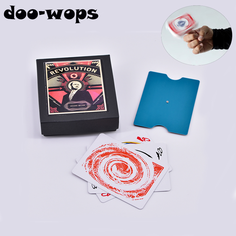 Revolution (Gimmick And Online Instructions) Magic Trick Magician Close Up Accessory Gimmick Comedy Spin Card On Fingertip Magia