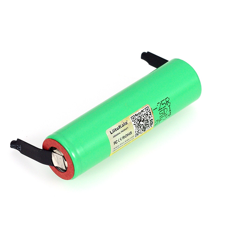 Image 2 - LiitoKala New Original 3.7V 18650 2500mAh battery INR1865025R 3.6V discharge 20A dedicated batteries + DIY Nickel sheet-in Replacement Batteries from Consumer Electronics