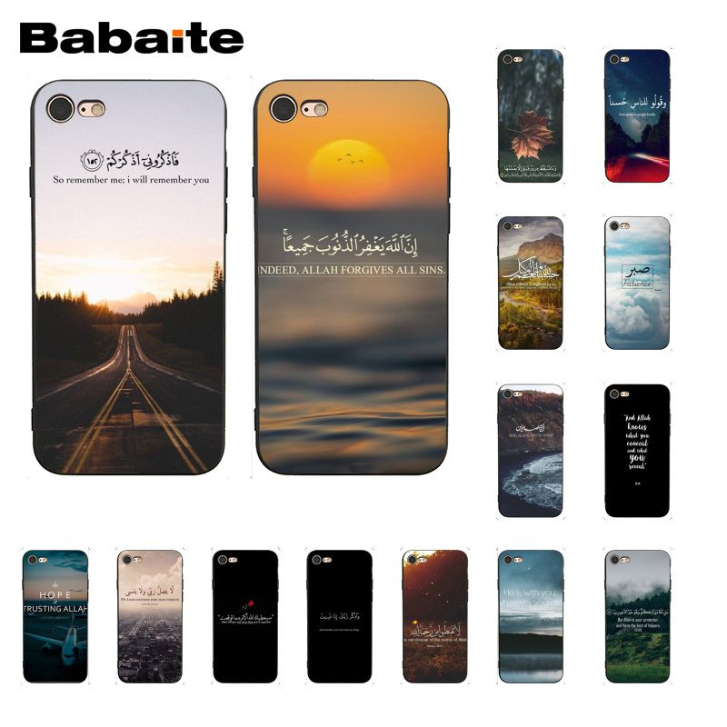 Arabic quran islamic quotes muslim Coque Shell Phone Case for iPhone 5 5Sx 6 7 7plus 8 8Plus X XS MAX XR 10 Case