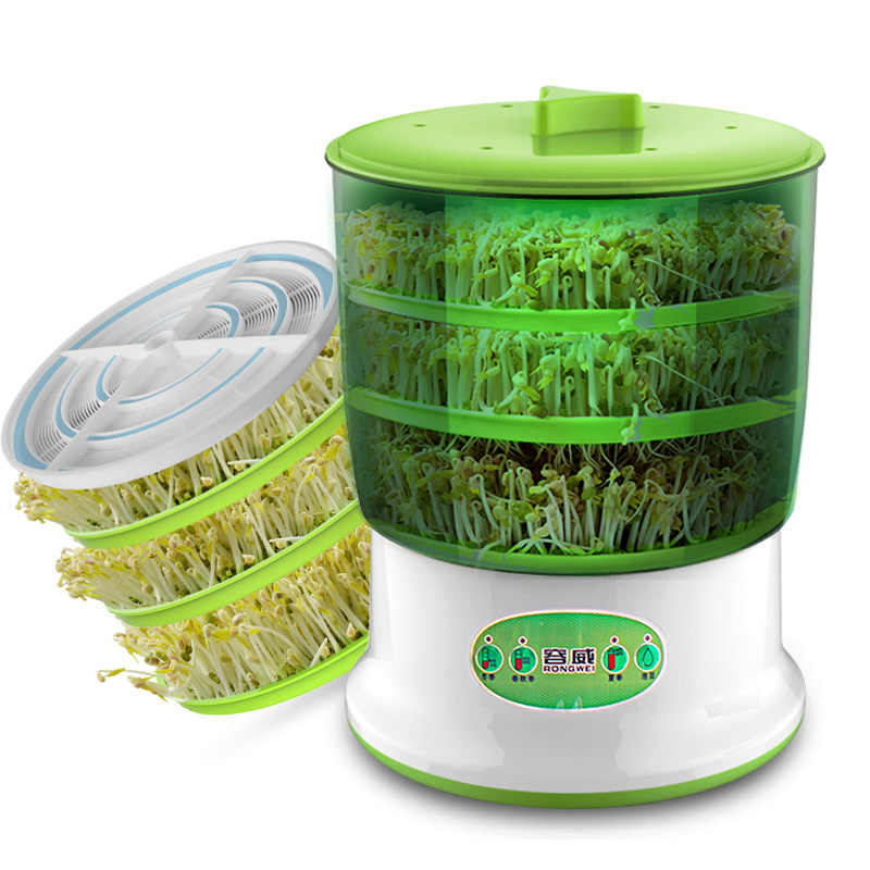 A,Multifunctional Bean Sprout Machine 3 Layer Intelligent Automatic  Homemade Sprouts Bud Machine PP Microcomputer ControlA,Multifunctional Bean Sprout Machine 3 Layer Intelligent Automatic  Homemade Sprouts Bud Machine PP Microcomputer Control