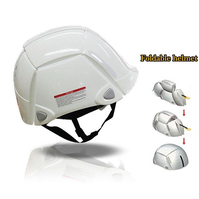 Складной Шлем Портативный безопасности шлемы Рабочая крышка открытый сайт шахтеров Охрана труда строительство анти-разбив Жесткий Шляпа