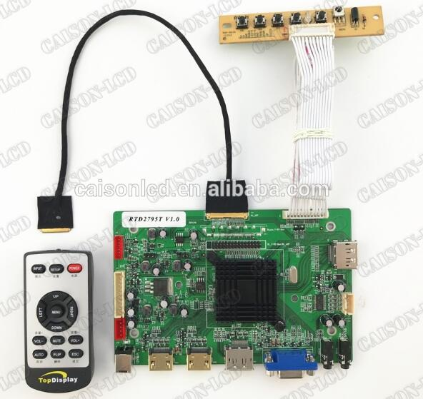 2HDMI+VGA+DP+Audio 4K LCD controller board support LQ125D1JW31/33 lcd panel