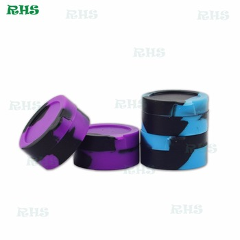 Hot Sale BPA Free Silicone Jar 3ml Silicone Container for Wax/Oil from RHS factory 200pcs/lot free shipping by DHL