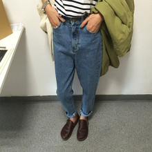 GOPLUS 2016 Nueva Moda Vintage de Cintura Alta Jeans Denim Mujer pantalones Slim Nuevo Novio Pantalones Adapta Dama Pantalones Vaqueros de Las Mujeres pantalones vaqueros