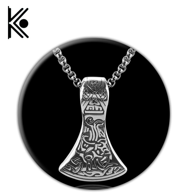 wholesale Vintage Norse Viking Scandinavian Necklace Pendant Thor Odin Loki Asgard 60cm Chain