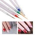 6 Unids/pack DIY Lápiz De Uñas de Arte Pintura Pinceles nail art Salon herramienta de Manicura de Uñas Herramientas de Belleza de Color la Línea de Dibujo Que Puntea La Pluma Kit