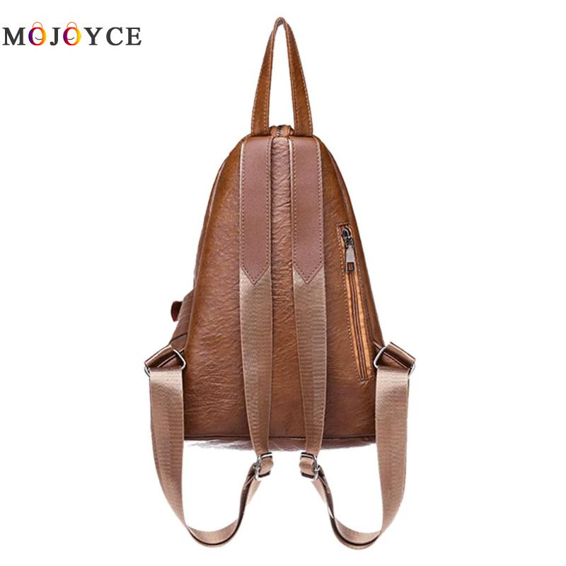 Chic Creative Zipper Open Design Women Backpack Girls Small Size Casual Soft Pu Leather Backpack Female Mochila Feminina #4