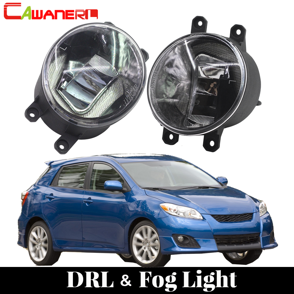 Cawanerl For Toyota Matrix 2008 2009 2010 2011 2012 2013 Car LED Bulb Fog Light Daytime Running Light DRL White 12V Styling car led light for audi a4 b8 s4 a4 allroad 2008 2009 2010 2011 2012 2013 2014 2015 car styling led fog light fog lamp
