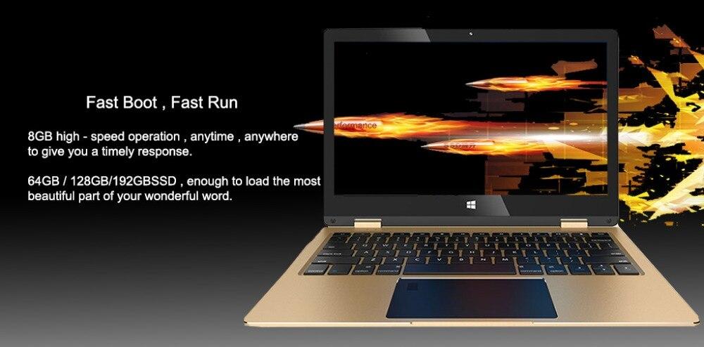 11.6 inch 2 in 1 convertible touch screen Netbook 8GB RAM 1920X1080 IPS Screen 192GB dual band wifi iTSOHOO 360 degree laptop 16