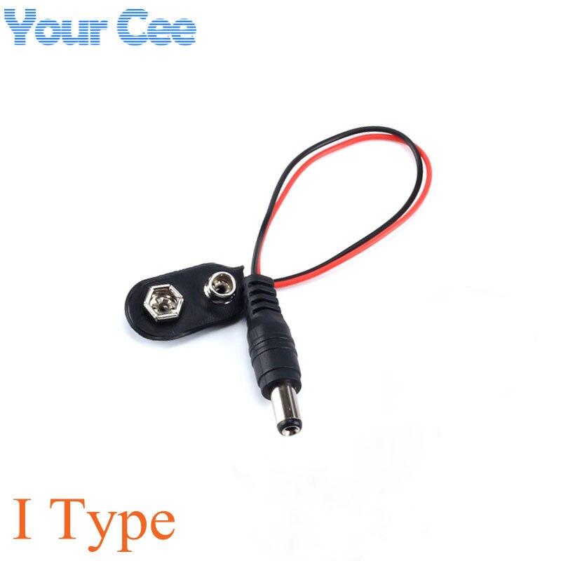 100 pc 9 V DC Batterie Power Kabel Stecker Clip Barrel Jack Stecker für Arduino DIY ICH typ