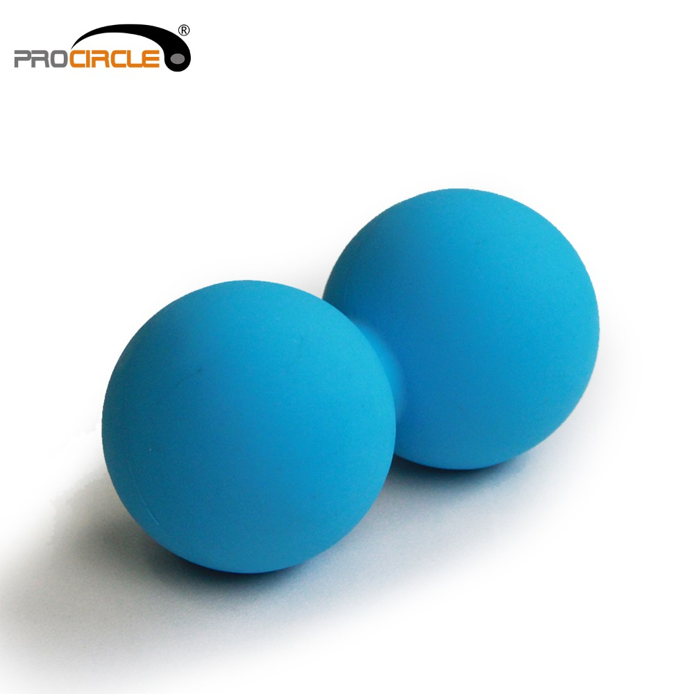 1 PCS Peanut Massage Ball Rubber Back Massage Ball Trigger Ponit Lacrosse Ball Body Massage& Fitness Exercise Balls epp lacrosse ball fitness peanut ball crossfit therapy gym relax exercise massage ball for yoga
