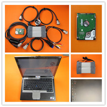 mb star diagnosis c3 with laptop d630 ram 2g with software 120gb hdd all cables full