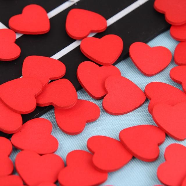 Us 172 28 Off100 Pcslot Mini Holz Rot Liebe Herz Schwamm Aufkleber Del Kühlschrankwand Aufkleber Kinder Scrapbooking Baby Spielzeug In 100