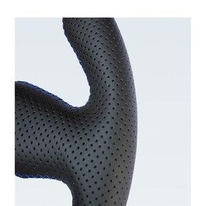 Image 4 - Couvre volant en cuir artificiel noir à coudre à la main pour Toyota RAV4 Celica Matrix MR2 Supra Voltz Caldina MR S Corolla