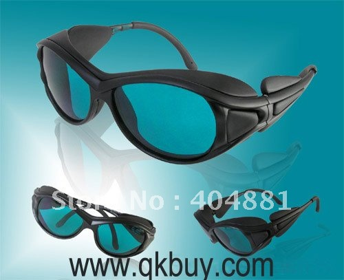 laser safety eyewear for 190-380nm & 600-760nm for 266, 636, 650, 660nm, 755nm O.D 4 + CE 10pcs 190 380