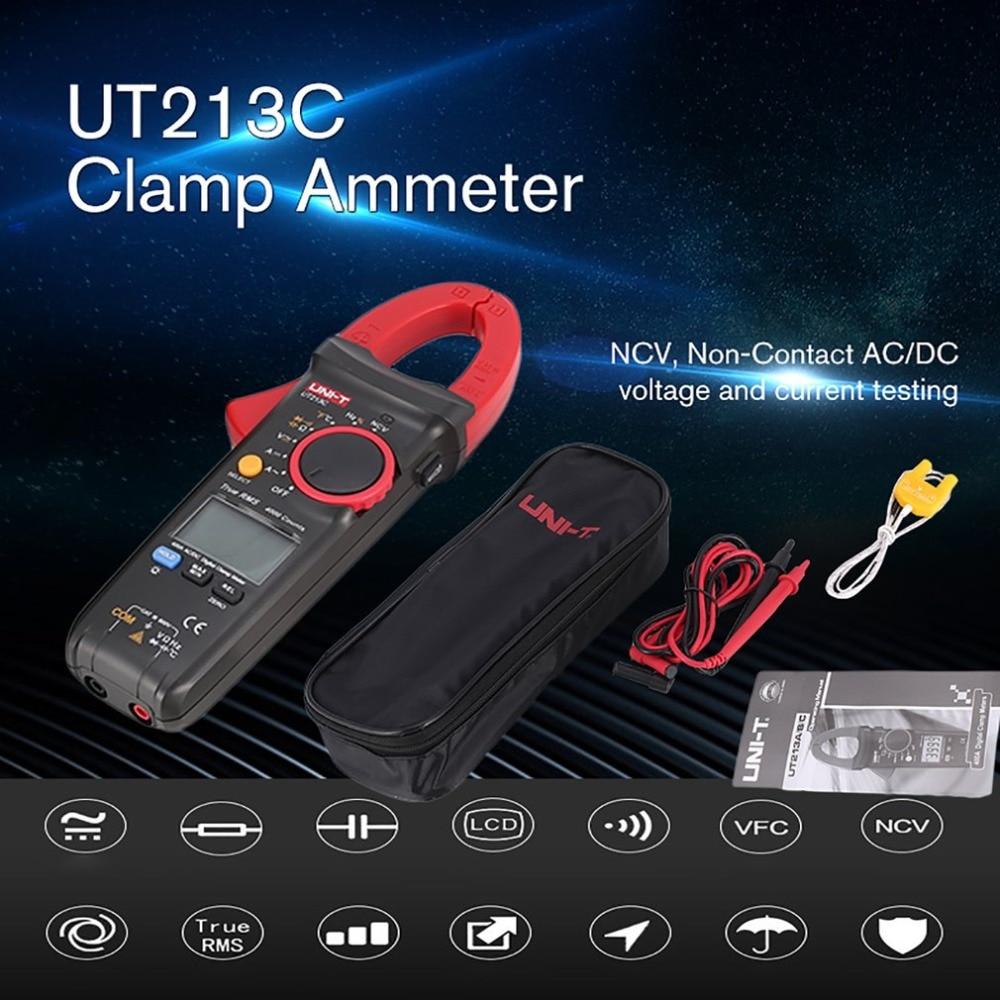 UT213C 400A Digital Clamp Meters Voltage Resistance Capacitance Multimeter Temperature Multimetro Diode True RMSUT213C 400A Digital Clamp Meters Voltage Resistance Capacitance Multimeter Temperature Multimetro Diode True RMS