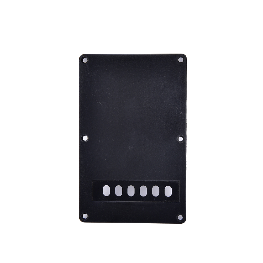 1PCS Single Ply Black Guitar Tremolo Spring Backplate Cover For Electric Guitar 9.1 X 14cm