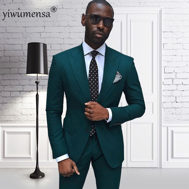 Yiwumensa high end green men suit custom made smoking for High end men s dress shirts