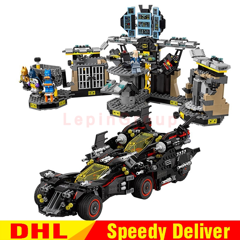 lepin 07077 Ultimate marvel Batmobile Bat Man Lepin 07052 Batcave Break-in Genuine Block legoings Toys Lepin Batman 70917 70909 lepin 07052 1047pcs batcave break in set the genuine model movie building blocks bricks educational toys for children 70909