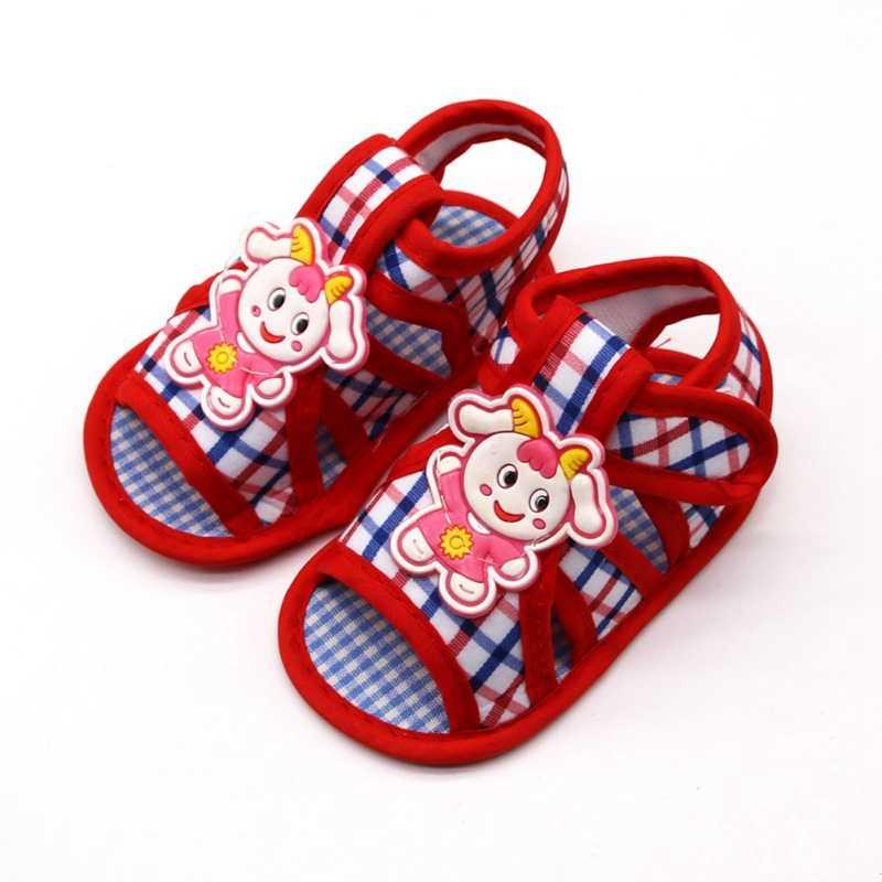Летняя обувь для новорожденных; хлопковая обувь для маленьких девочек и мальчиков; сандалии на мягкой подошве с рисунком; сандалии принцессы для маленьких девочек