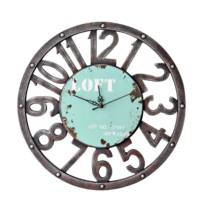 American Silent Non Ticking Round Wall Clocks,Decorative Vintage Style Roman Numeral Clock,Home Kitchen/Living Room/Bedroom