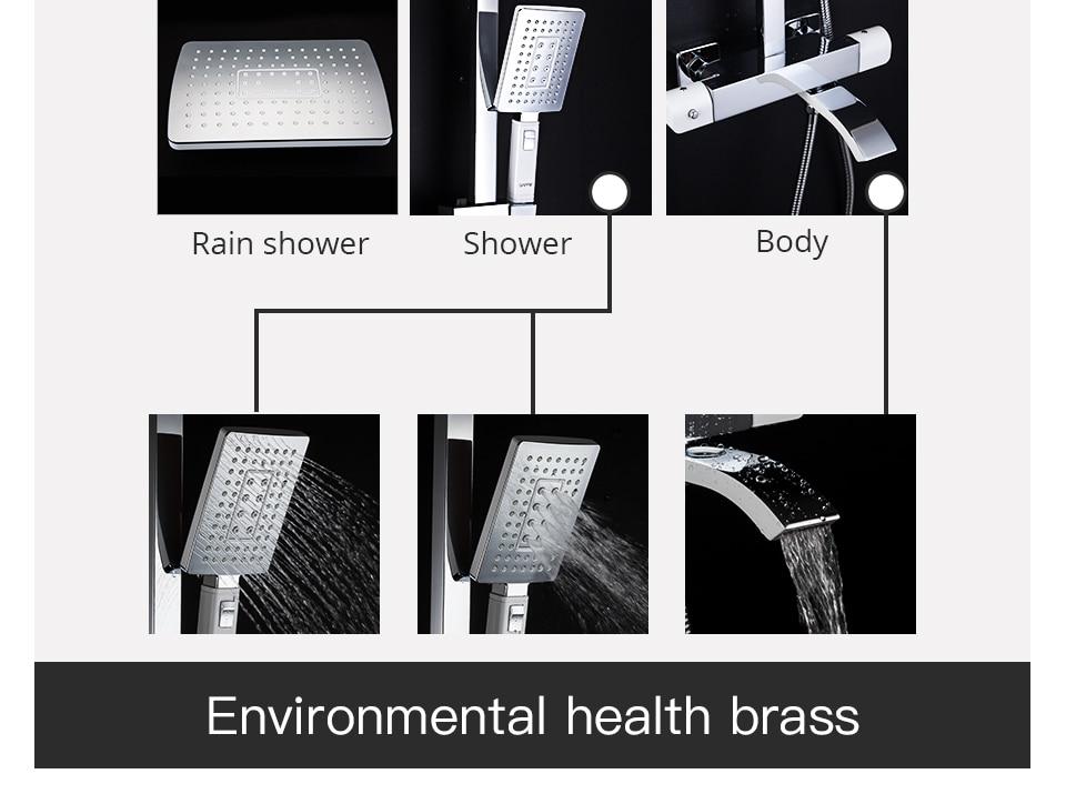 HTB1DJtpaNz1gK0jSZSgq6yvwpXah GAPPO thermostatic shower set rain shower set shower faucet hot and cold Shower faucet Bathtub thermostatic shower mixer