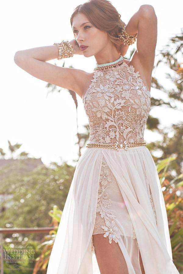 New Designer Summer Beach High Waist Empire Sexy Prom Dresses 2017 ...