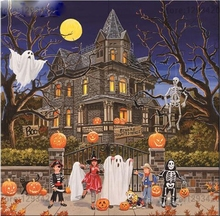 DIY Diamond Painting Cross Stitch Kit 3D Sets For Embroidery Cross-Stitch Needlework Halloween scenery