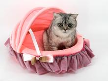 1pcs dogs cats new lovely princess beds supplies doggy autumn winter kennels puppy fashion house pet dog cat nest pets litter