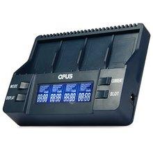 Opus BT-C900 Intelligent Digital 4 Slots LCD Multifunction 9V Li-ion battery Charger EU US Adaptor