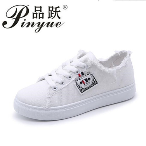flat Casual shoes woman 2018 new arrival lace-up canvas shoes spring/autumn fashion shallow solid blue/black/white shoes new spring summer men casual shoes breathable black high top lace up canvas shoes espadrilles 2018 fashion white men shoes flat