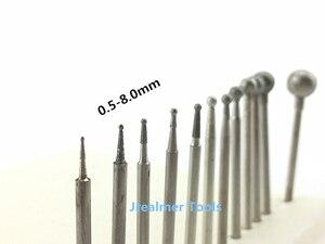 Image 2 - Jrealmer 10pcs 2.35mm shank Round Ball Diamond Burrs bits Dremel Burr Rotary Tool Dental Engraving Etching Abrasive tool