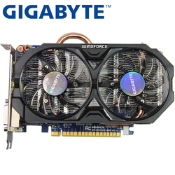 GIGABYTE Video Card Original GTX 750Ti 2GB 128Bit GDDR5 Graphics Cards for nVIDIA Geforce GTX750Ti Hdmi Dvi Used VGA Cards