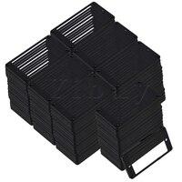 Yibuy 100 Pcs 92x45x5mm Black ABS Electric Guitar Flat Humbucker Pickup Frames