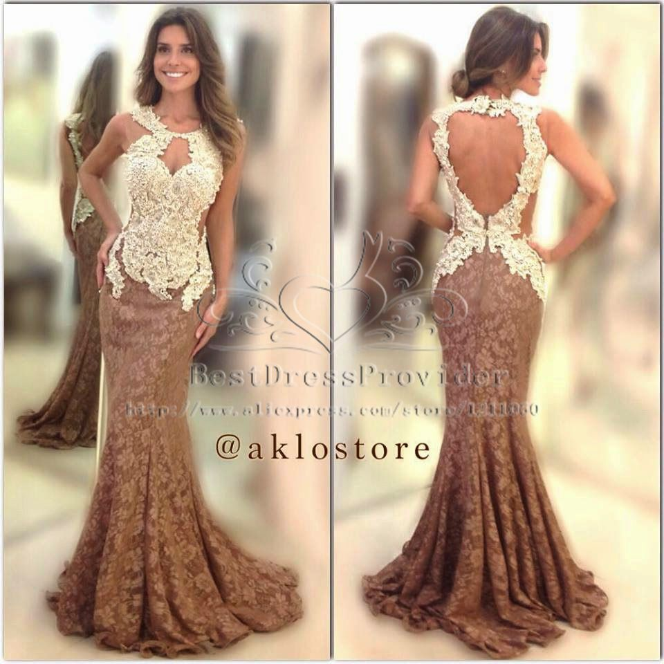Online Buy Wholesale prom dresses 2015 lace mermaid open back from ...