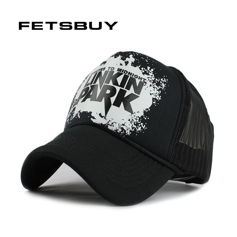 6e5b9482b5e FETSBUY Baseball Cap Breathable Summer Cap with Mesh Casual Fitted  Casquette Trucker Hat Adjustable Snapback Hats
