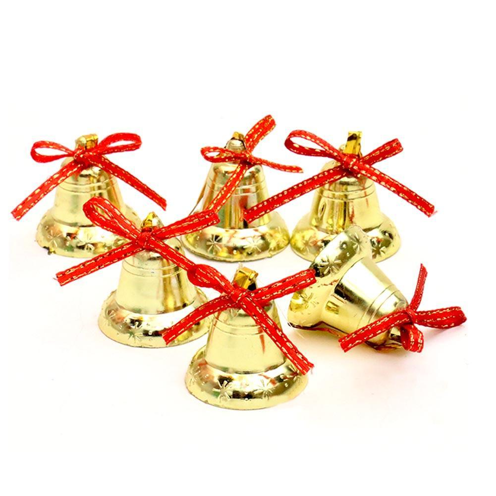 Ornaments for christmas tree - Decoration Christmas Tree Ornaments Plastic Plating 4 Cm Bell Chain Christmas Pendants Adornment 9pcs Pack