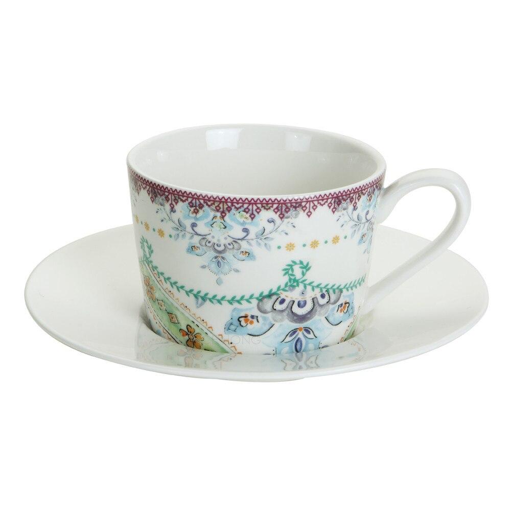 Porcelain Tea Cup Coffee Cups With Saucer Ceramic Tea Mugs Set, Bone China Espresso Coffee Cup Set