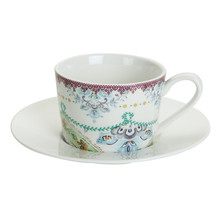 Porcelain Coffee Cups Espresso In & Saucers Tea And Ceramic