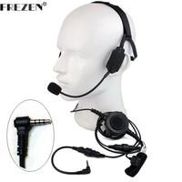 Walkie talkie Military Bone Conduction Tactical Headset boom mic For Vertex Yaesu Radio VX-3R VX-5R 210 FT-50 FT-60R VX-10 110