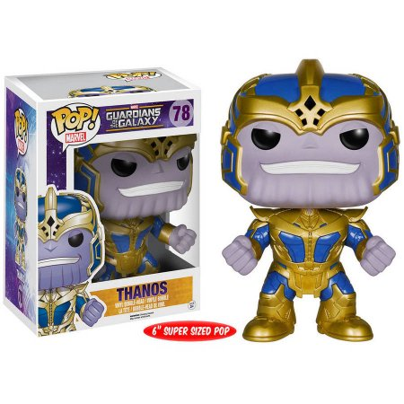 In Stock Original 6'' Funko pop Marvel Guardians of the Galaxy - Thanos Vinyl Figure Collectible Model Toy with Original box new funko pop guardians of the galaxy tree people groot