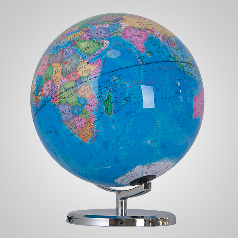 Amazing 32cm Blue Earth Globe Table Lamp World Map Light Home Study Office Desk  Decor Geography Teaching Kids Room Lamp Gift Metal Base In Table Lamps From  Lights ...